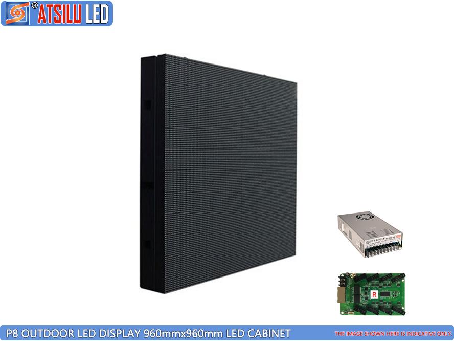 Gabinete LED para exteriores de acceso frontal y posterior de P8mm