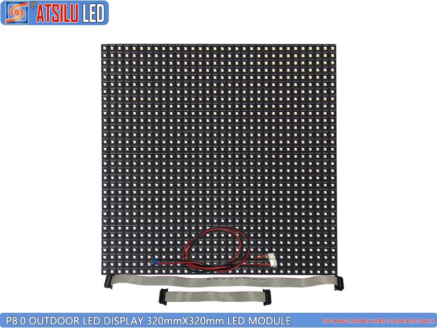 P8mm Depan dan Belakang Akses Luar Ruangan LED Display LED Module